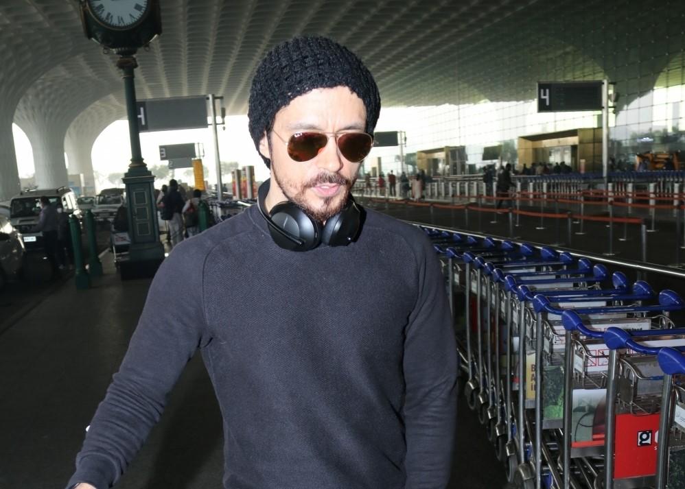 Actor Darshan Kumar seen at the Chhatrapati Shivaji Maharaj International Airport in Mumbai