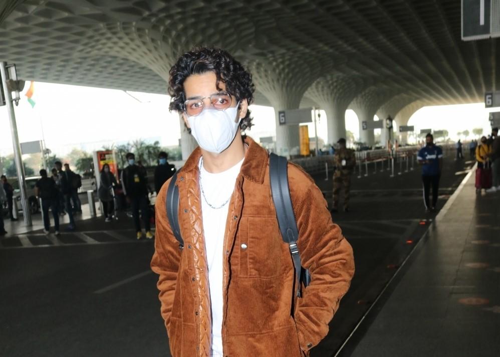 Actor Ishaan Khattar seen at the Chhatrapati Shivaji Maharaj International Airport in Mumbai