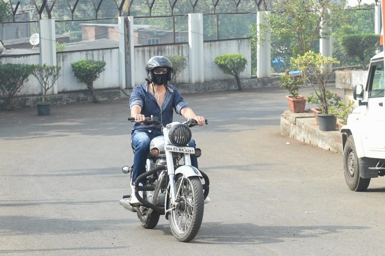 Actor Kartik Aaryan seen at Filmcity, in Mumbai