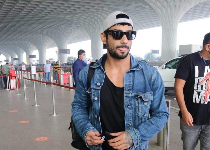 Actor Prateik Babbar seen at the Chhatrapati Shivaji Maharaj International Airport in Mumbai