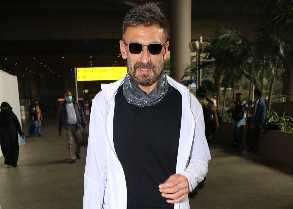 Actor Rahul Dev seen at the Chhatrapati Shivaji Maharaj International Airport in Mumbai