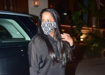 Actor Salman Khan's sister Arpita Khan Sharma seen at Worli in Mumbai