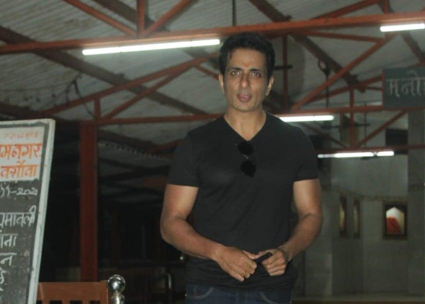 Actor Sonu Sood seen at Andheri in Mumbai