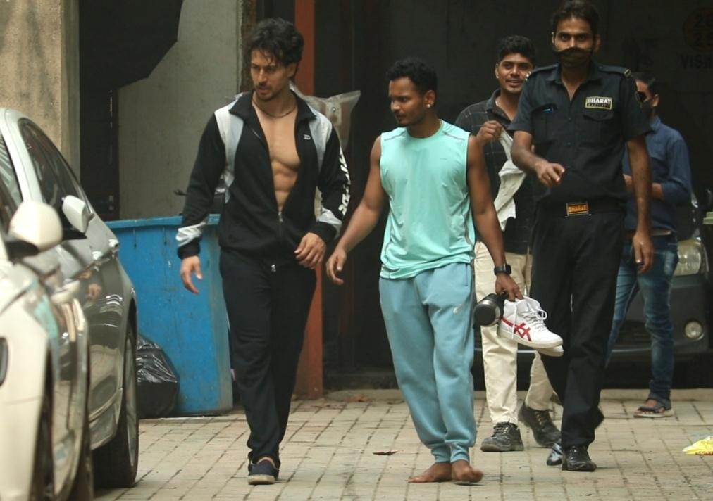 Actor Tiger Shroff seen at Andheri in Mumbai