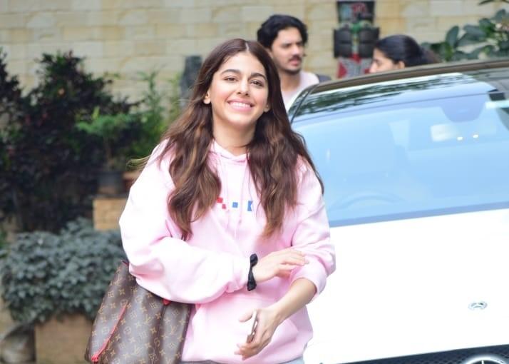 Actress Alaya F seen at Andheri in Mumbai