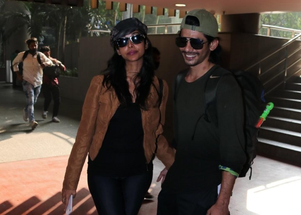 Actress Anupriya Goenka seen at the Chhatrapati Shivaji Maharaj International Airport in Mumbai