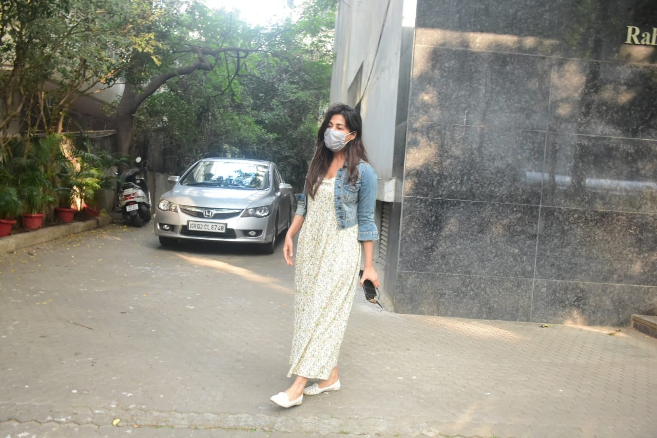 Actress Chitrangada Singh seen at Khar in Mumbai
