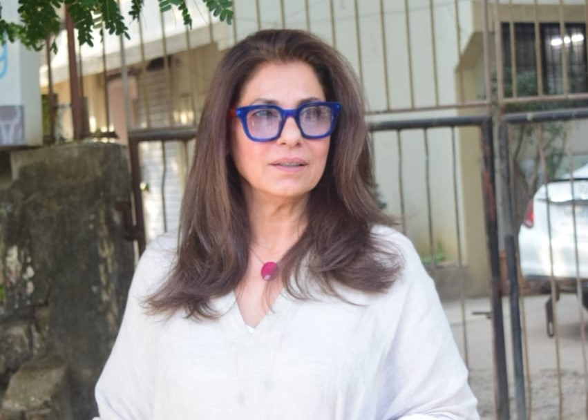 Actress Dimple Kapadia seen at Juhu in Mumbai