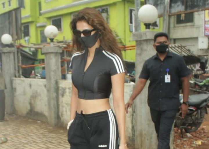 Actress Disha Patani seen at Versova Jetty in Mumbai