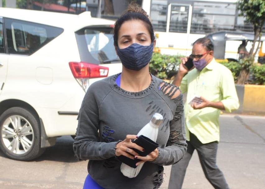 Actress Malaika Arora seen at Bandra in Mumbai