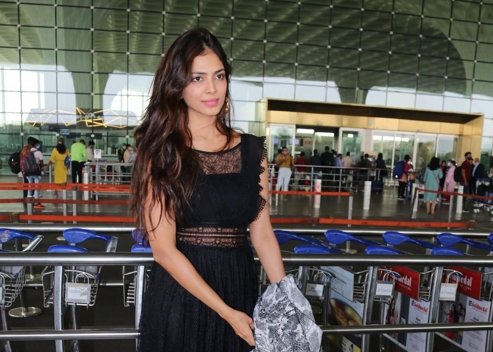 Actress Malavika Mohanan Seen At Airport Departure