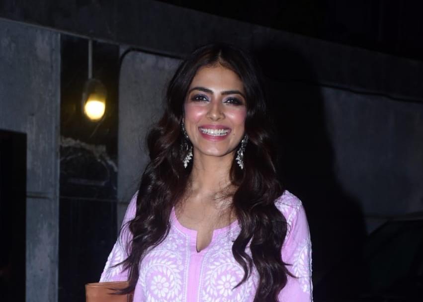 Actress Malavika Mohanan seen at the Chhatrapati Shivaji Maharaj International Airport in Mumbai