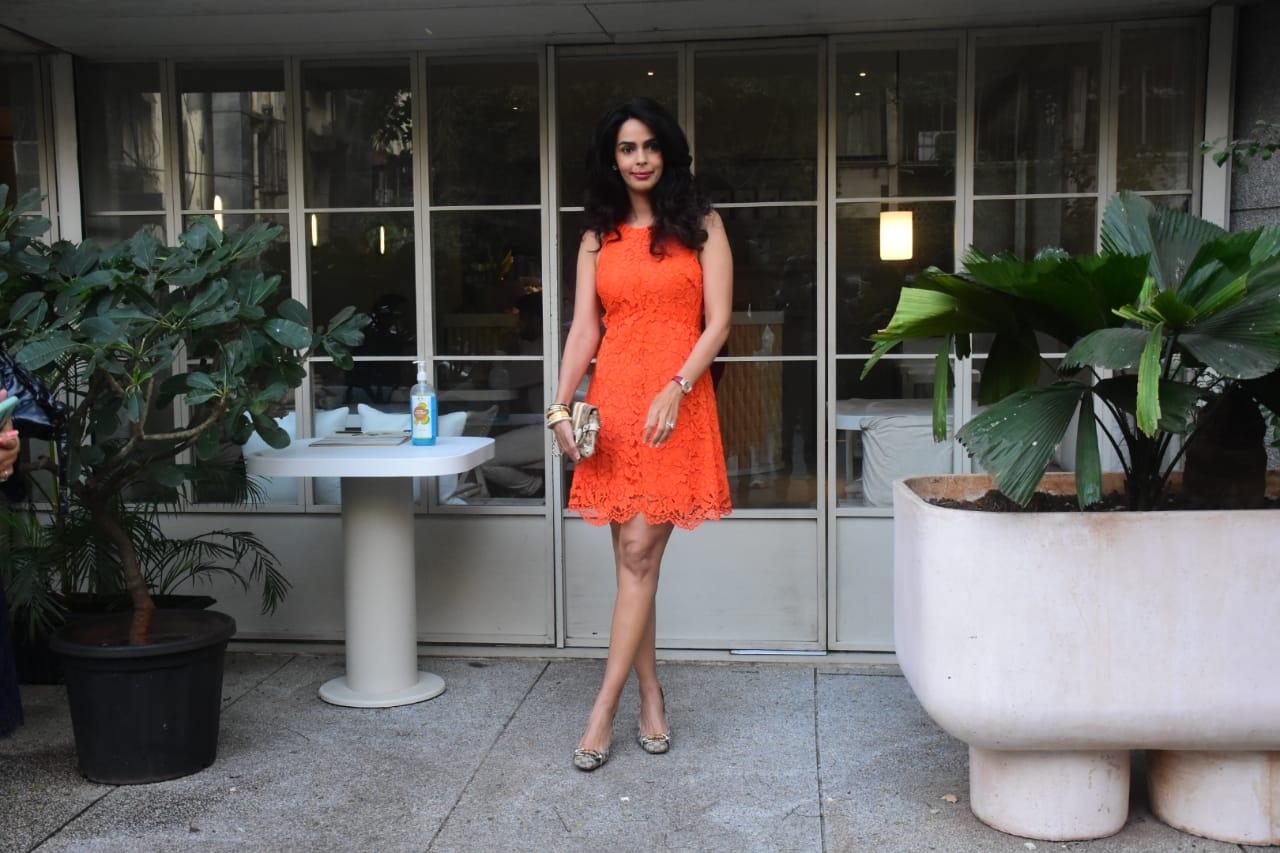 Actress Mallika Sherawat seen at Bandra in Mumbai