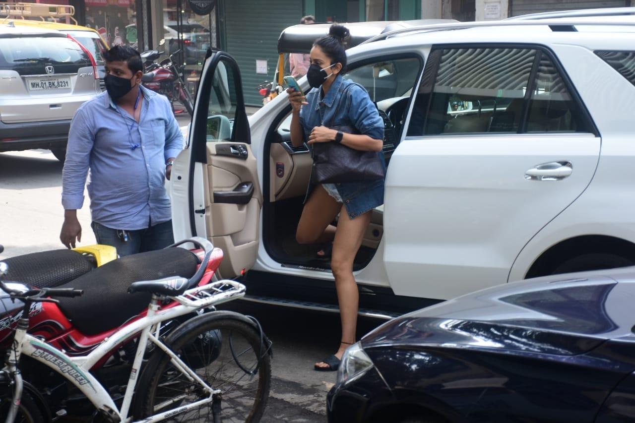 Actress Rakul Preet Singh seen at Bandra in Mumbai