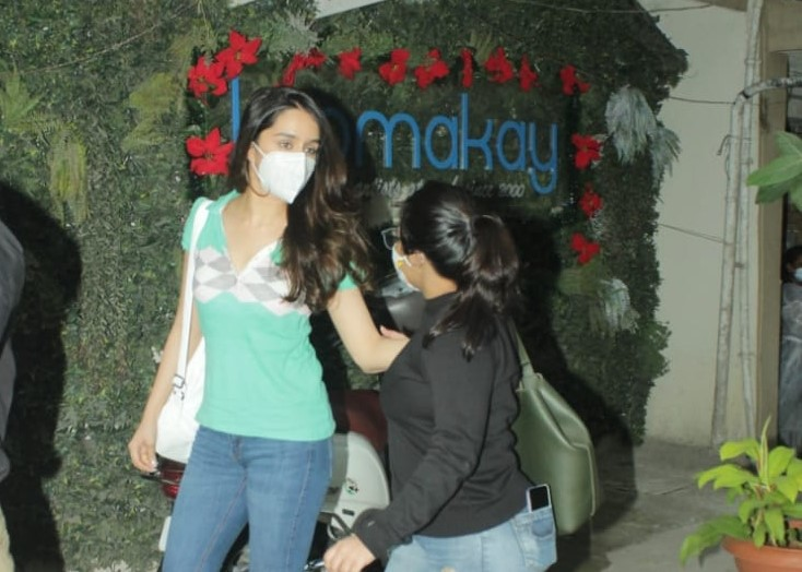 Actress Shraddha Kapoor seen at Juhu in Mumbai