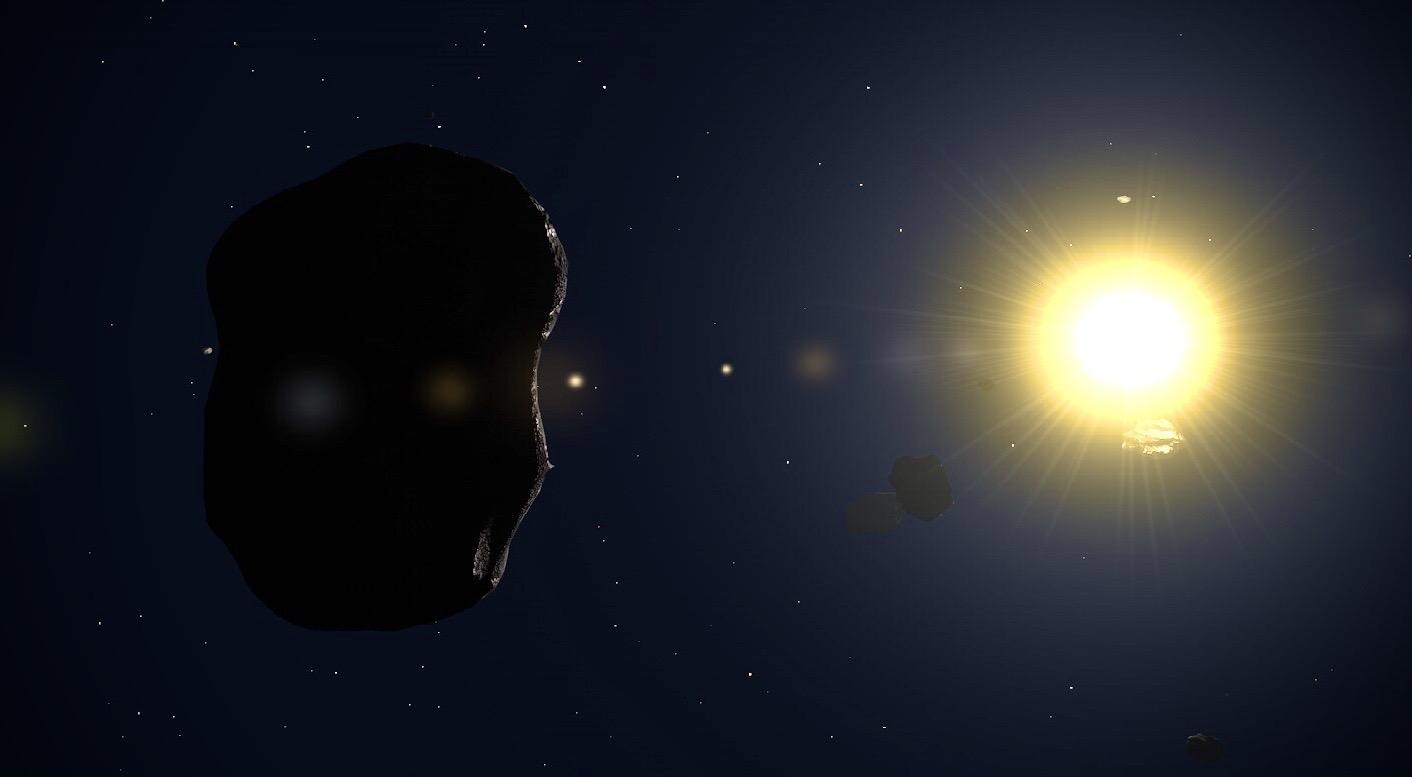 Asteroid 2021 Sichtbar