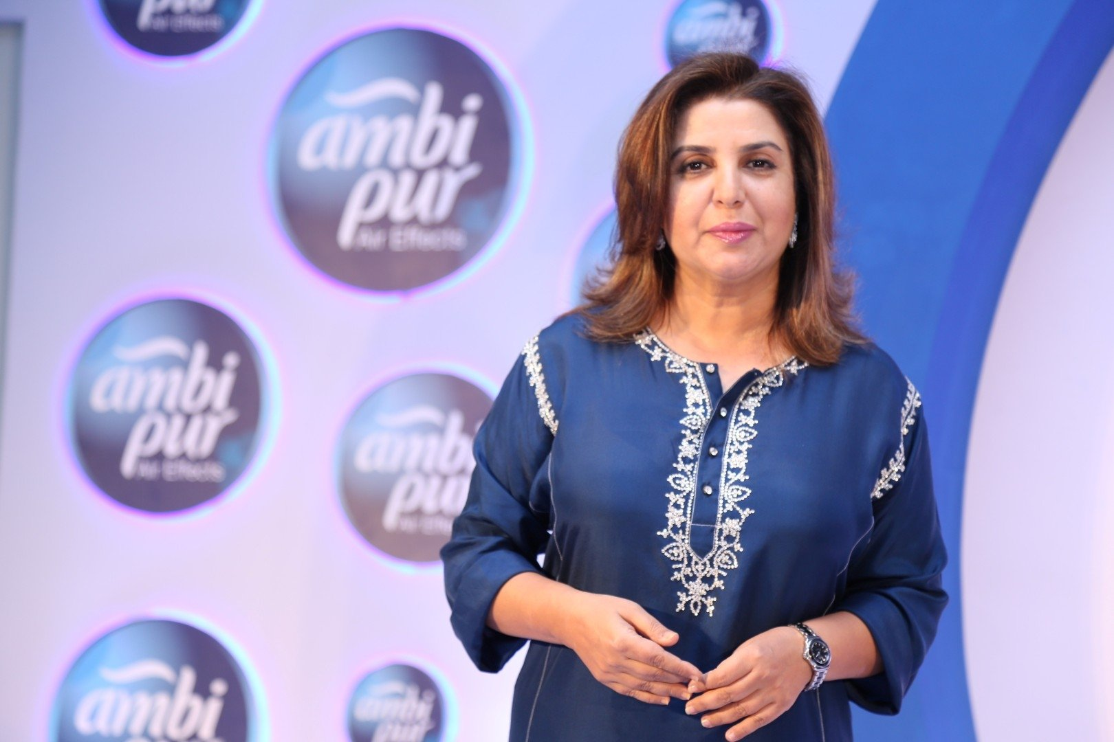 Filmmaker Farah Khan during a promotional event by Ambi Pur, in Mumbai