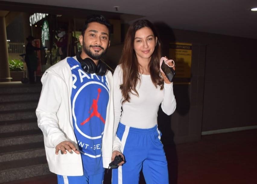 Gauahar Khan & His Husband ZaidDarbar Spotted At Airport Arrival.