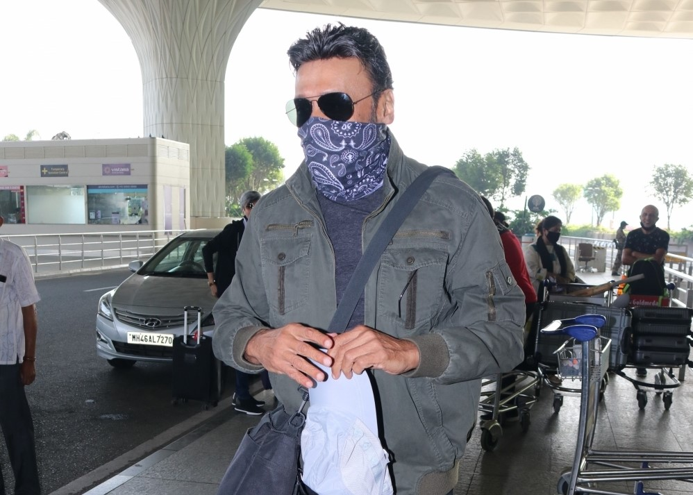 Jackie Shroff Spotted AtAirport Departure