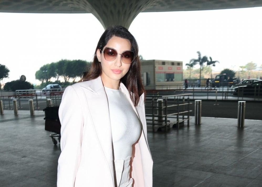 Nora Fatehi seen at Airport Departure