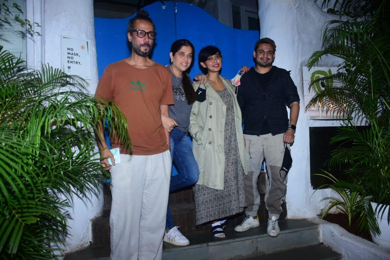 Short Film Shameless-Shabinaa Khan, Keith Gomes, Sayani Gupta and Hussain Dalal are at Olives, Bandra