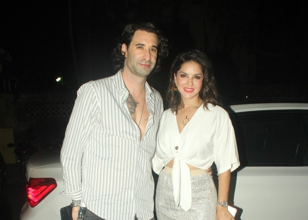 Sunny Leone & Daniel Webber spotted at juhu