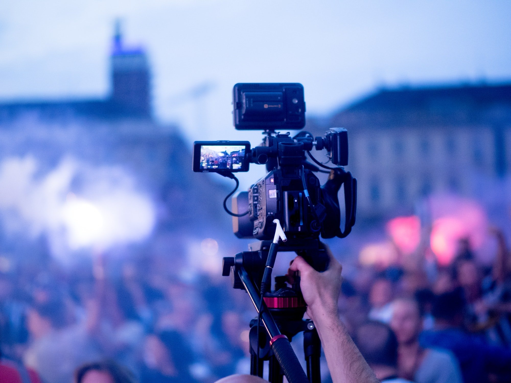 Broadcasting live event with video camera