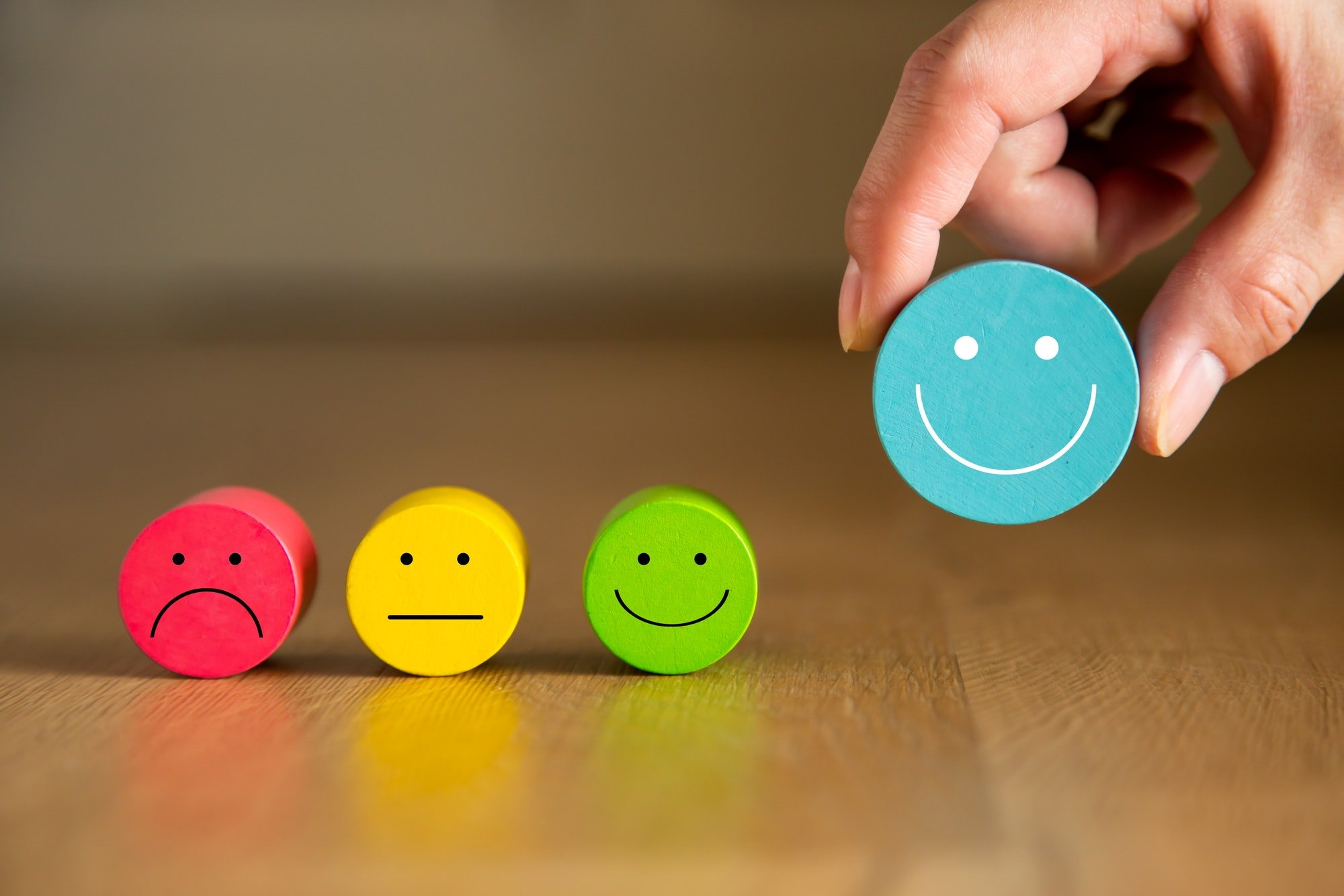 Conceptual the customer responded to the survey.Service experience satisfaction concept