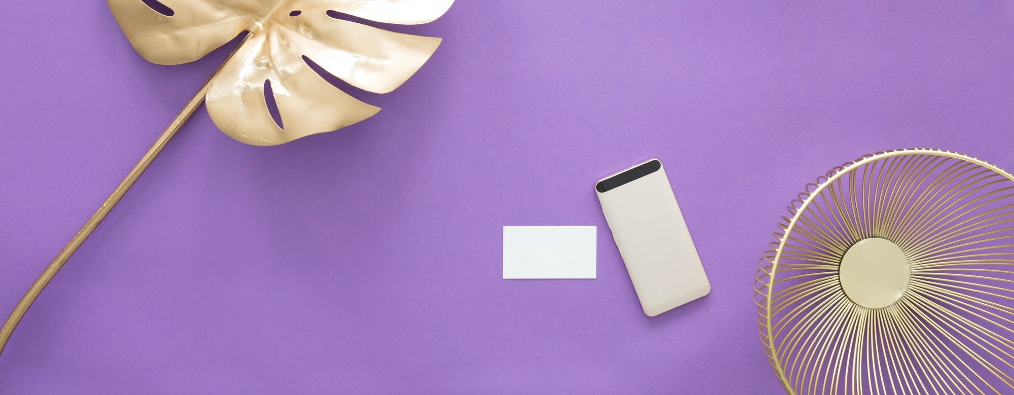 Smartphone on ultra violet background
