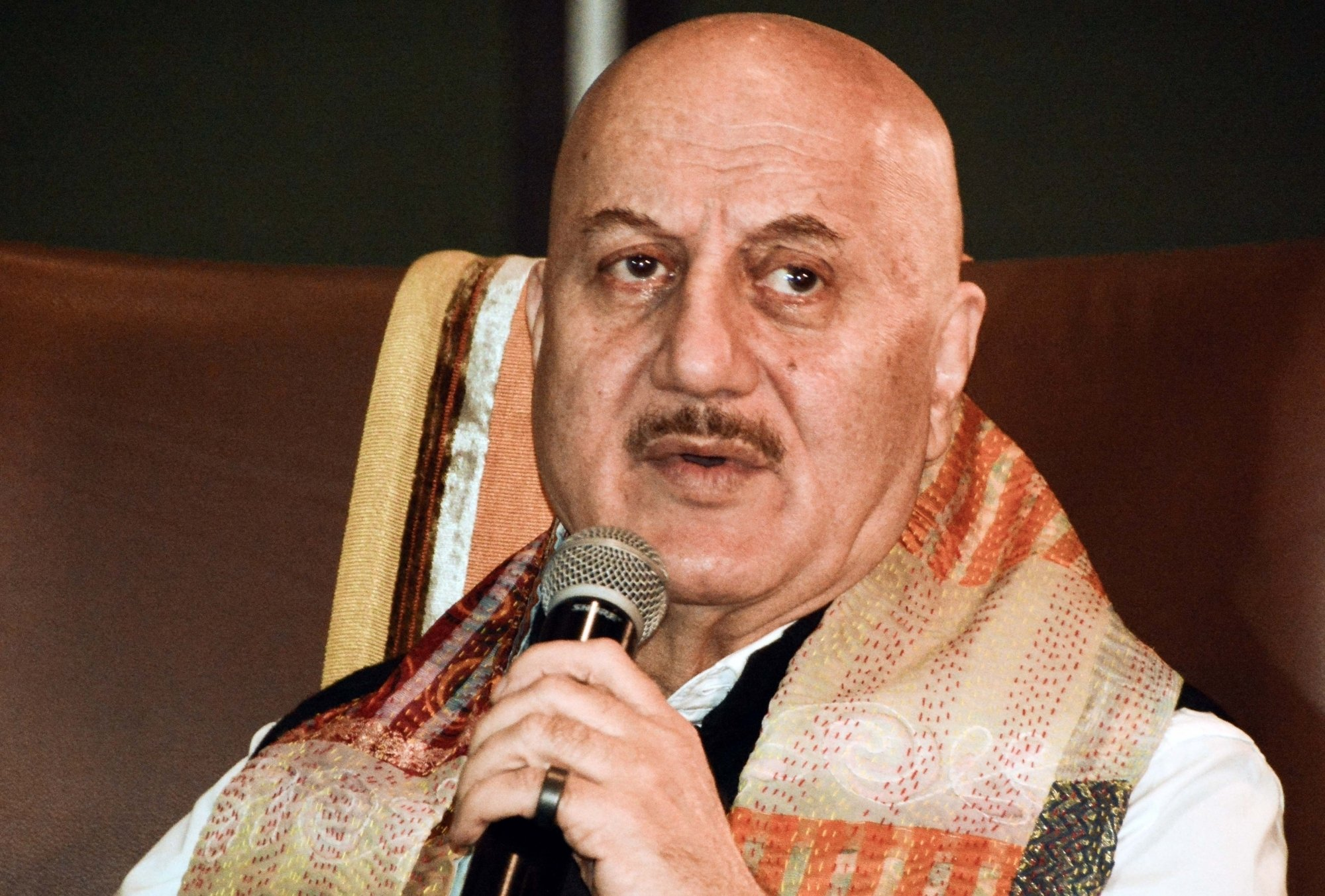 """Actor Anupam Kher during the launch of his book """" Your Best Day Is Today"""" in Kolkata"""