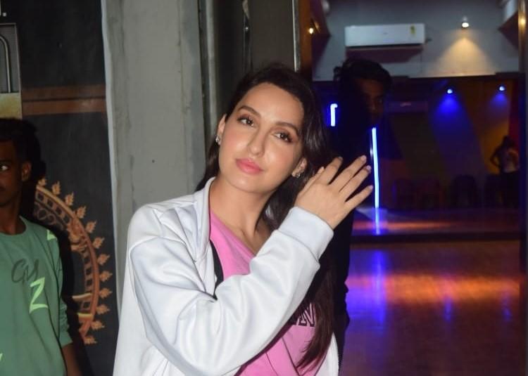Nora Fatehi seen at a dance class in andheri