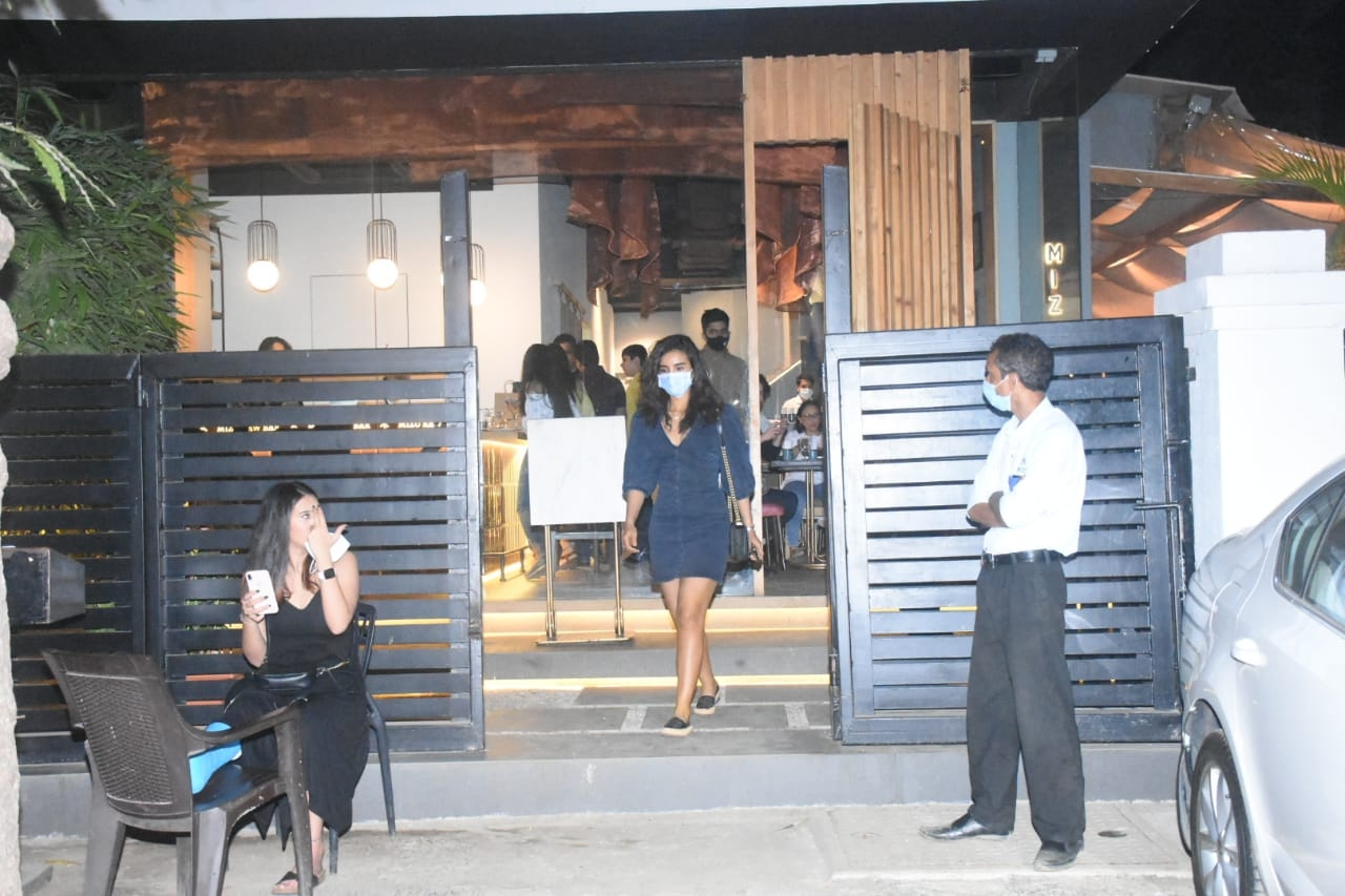 Patralekha seen at Mizu Restaurant in Bandra