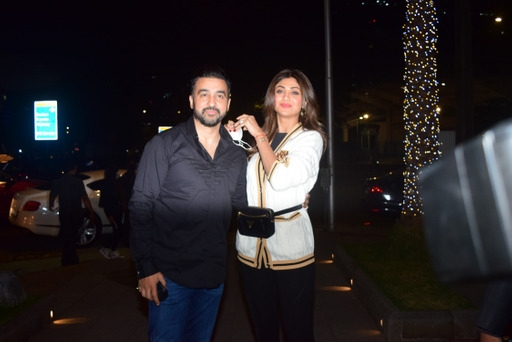 Shilpa Shetty Raj Kundra spotted at Bandra