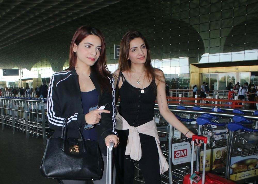 Sukriti and Prakriti Kakar Spotted at Airport Departure