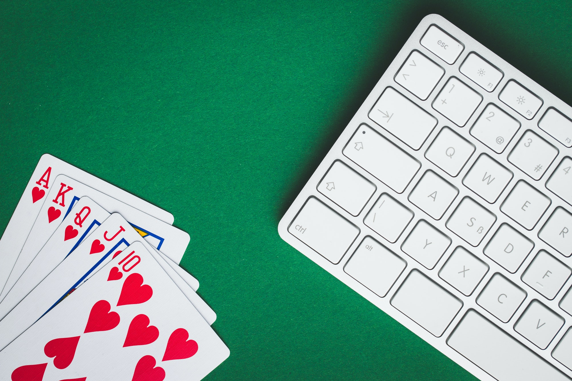 Concept of on-line poker game.