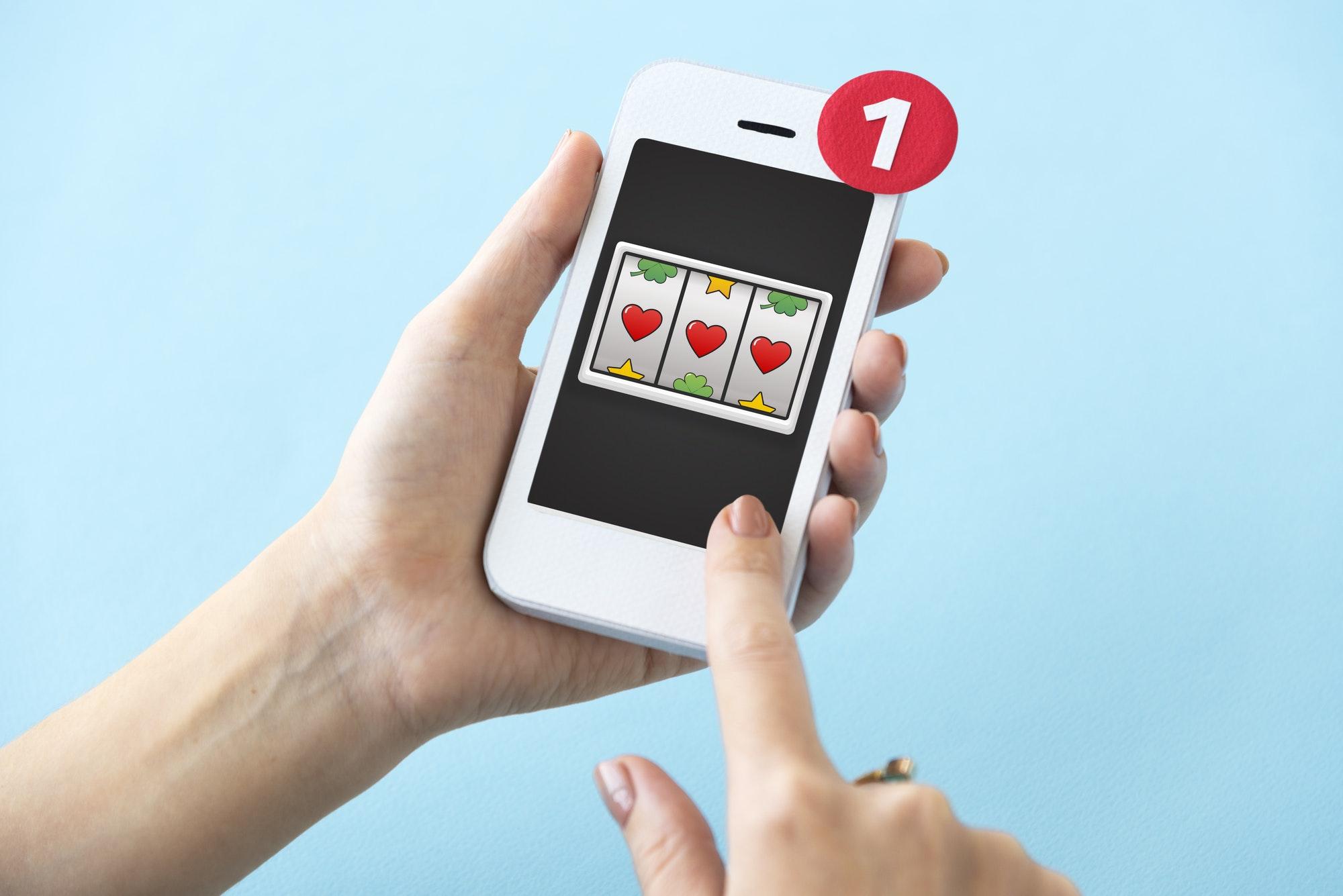 Lotto Slot Machine Jackpot Win Concept