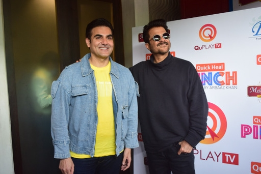Anil kapoor and Arbaaz khan spotted pinch sesson outside at juhu