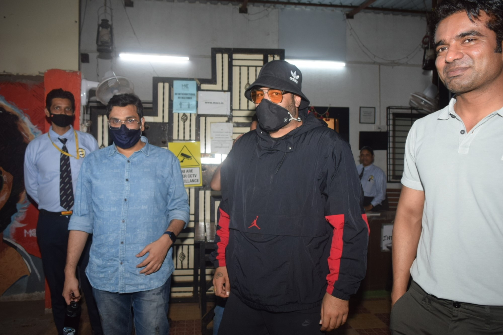 Badshah & Mukesh Chhabra Spotted At Mukesh Chhabra Office In Andheri