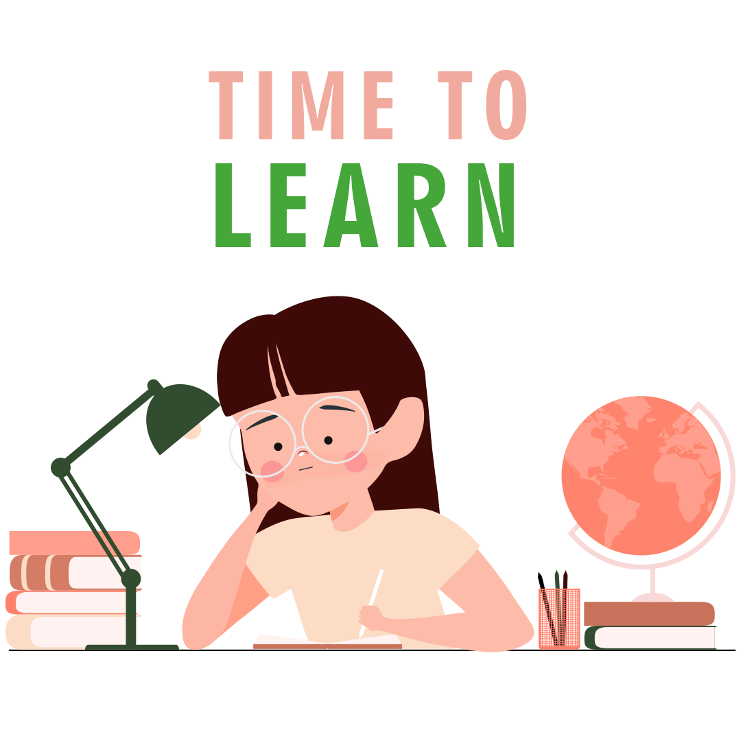 girl doing exam preparation time to learn