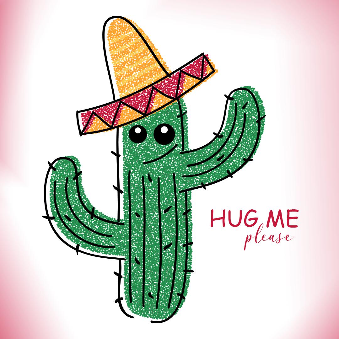 Hugging Cactus