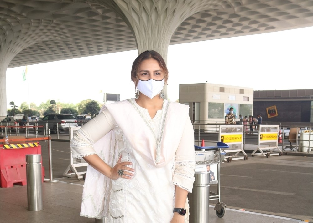 Huma Qureshi spotted at Airport departure