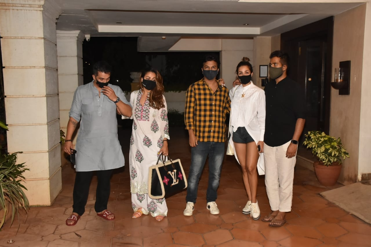 Malaika Arora, Amrita Arora And Husband Spotted In Bandra