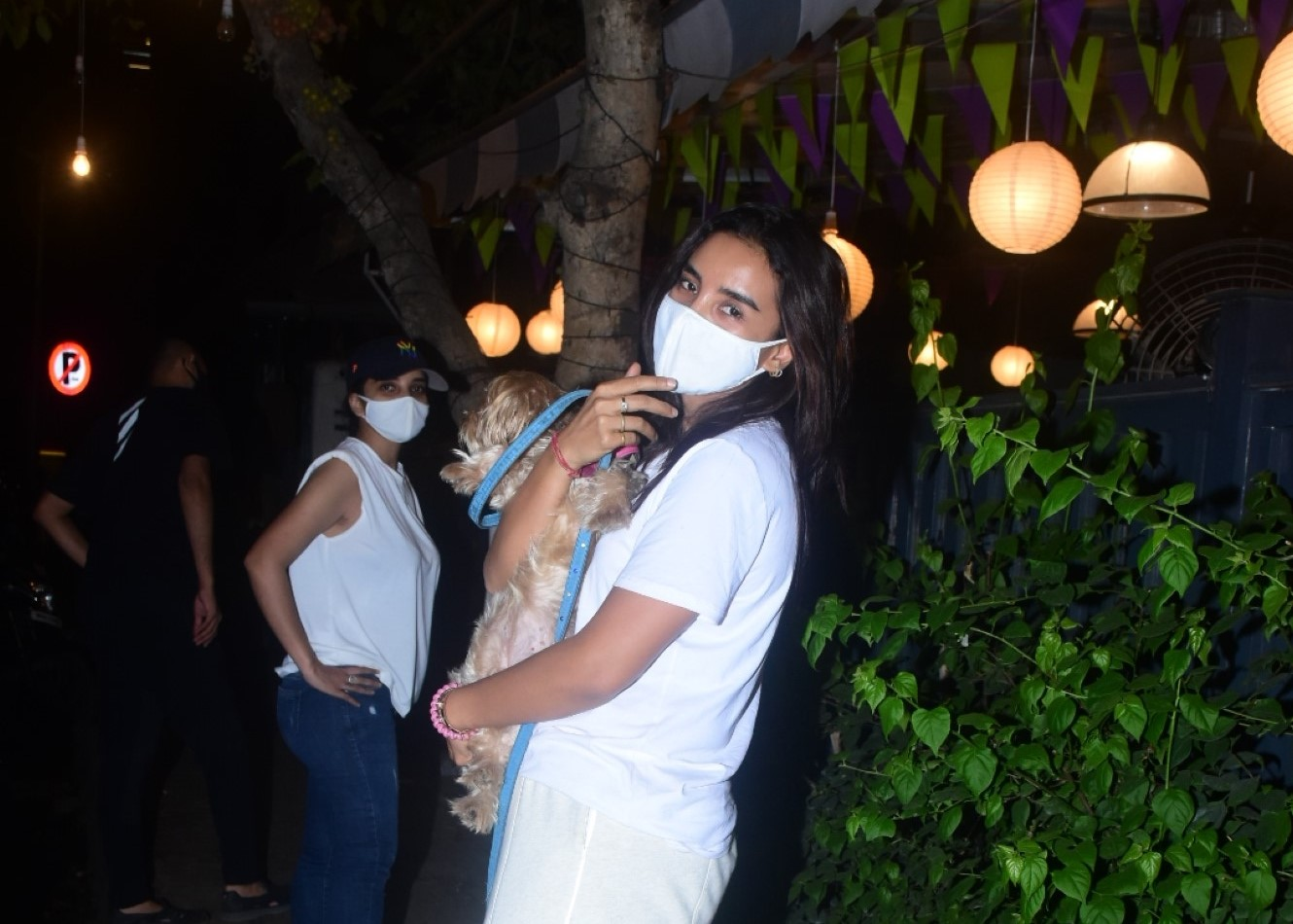 Patralekha With Her Pet Spotted in Bandra