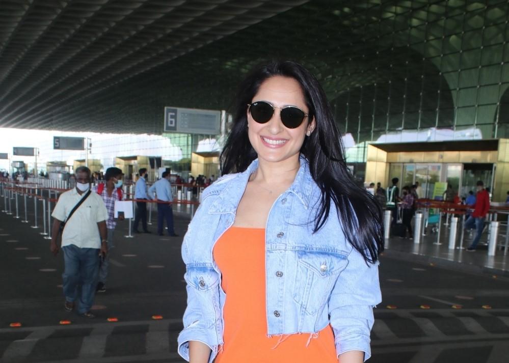 Pragya Jaiswal spotted at Airport departur