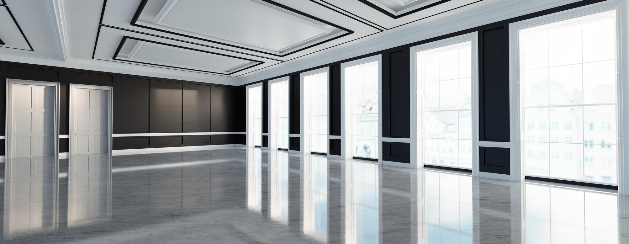 Classic empty interior apartment. Real estate.