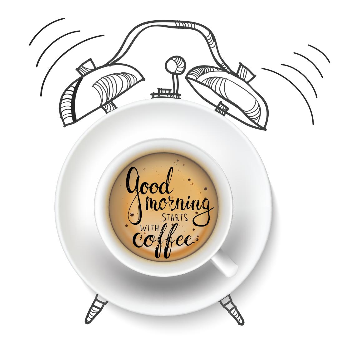 Good Morning With Coffee Alarm