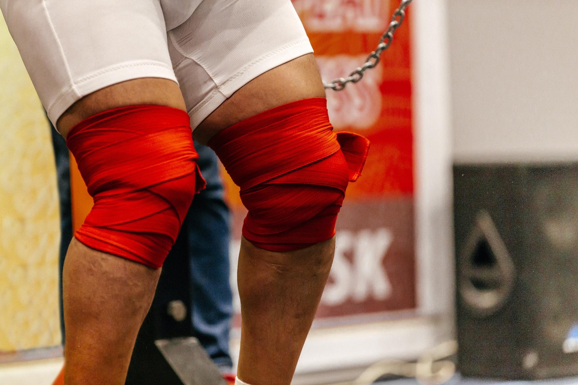 powerlifting knee wraps