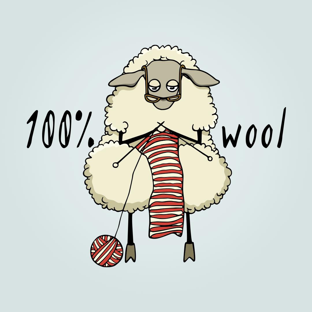 100% Cotton Sheep Weaving Woolen Garments