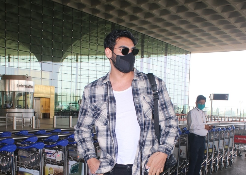 Ahaan Shetty spotted at airport departure