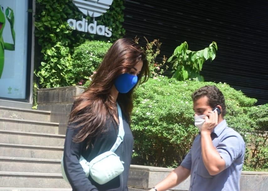 Disha Patani Spotted Adidas Showroom In Santacruz